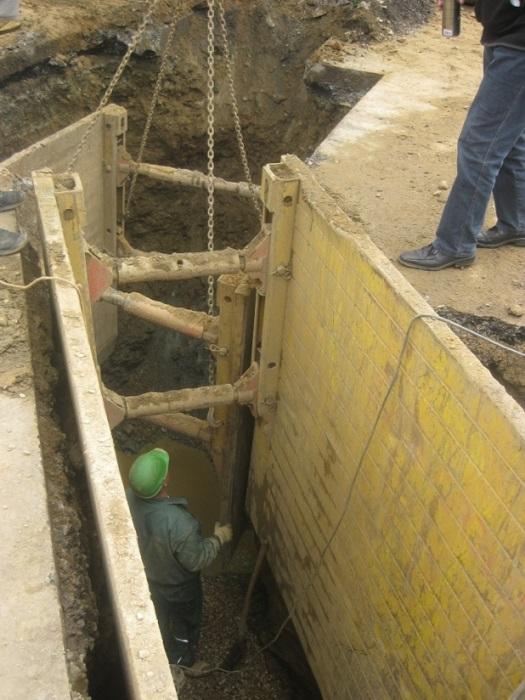 Im Jahr 2012 erfolgt der Aufbau der zentralen Abwasserentsorgung in Marbach. Die Leitungsverlegung erfolgt in einer Tiefe von bis zu 5 Metern im Straßenraum, damit die notwendigen Gefälle eingehalten werden können.