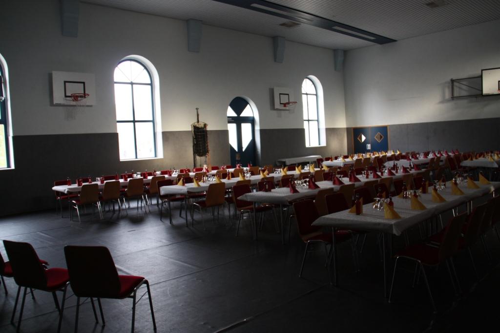 Böhrigen Turnhalle als Veranstaltungsraum