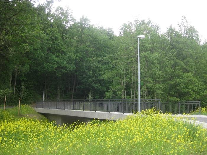 Brücke über die Große Striegis an der Zufahrt zur Wiesenmühle