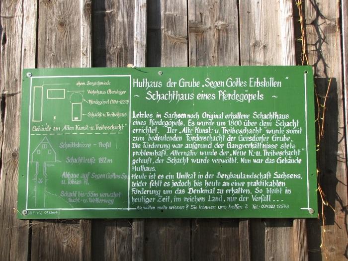 Schild am Huthaus