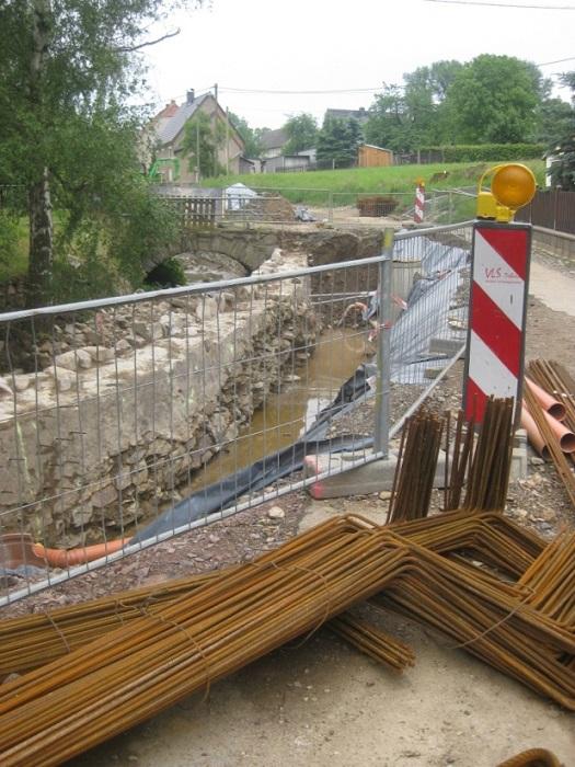 Im Jahr 2012 wird ein Teil der Ortsdurchfahrt Marbach grundhaft ausgebaut. Stützmauern werden aufwendig saniert, so dass sie hoffentlich viele Jahrzehnte halten werden.